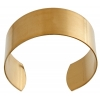 Brass Cuff Bracelets Flat Band 1In Wide - pack of 6